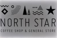 Details from the sign on the door of North Star's Coffee Shop & General Store in Leeds Dock.