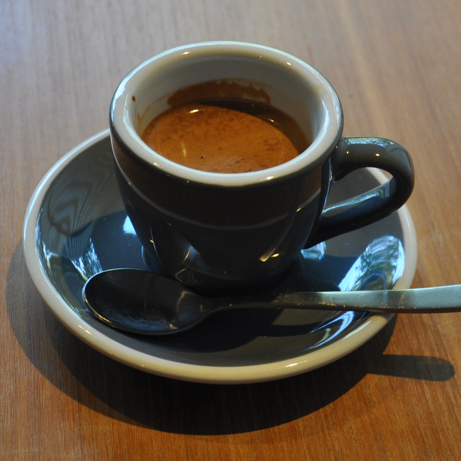 A lovely espresso at Vermillion Cafe in Kyoto, made using its bespoke house-blend and served in a classic cup.