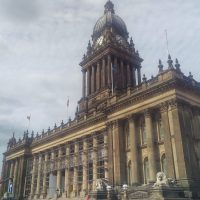The magnificent Leeds Town Hall, one the UK's largest, was built between 1853 and 1858.