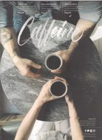 Sharing a cup of coffee on the cover of Caffeine Magazine, Issue 29.