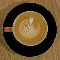 """My lovely flat white made with the """"Comfort"""" beans at Foundry Coffee Roasters in Sheffield."""
