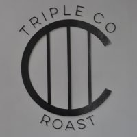 The Triple Co Roast Logo, which you'll find, along with the roastery and Elemental Espresso Bar, at the back of the Elemental Collective in Stokes Croft, Bristol.