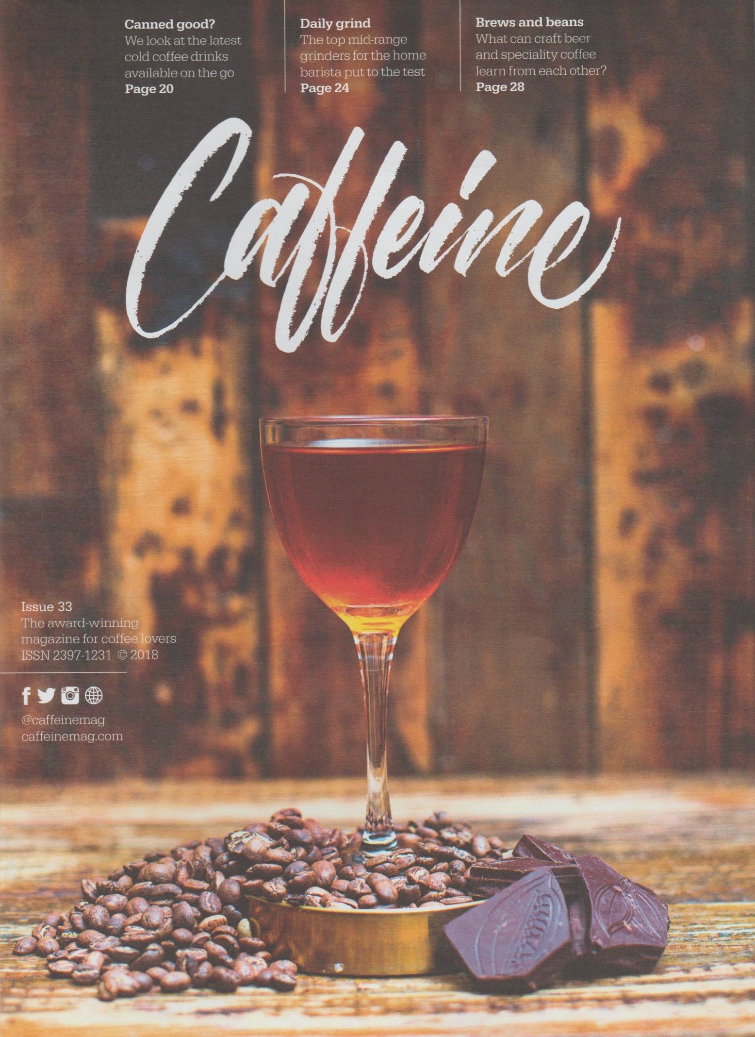 Caffeine Magazine ushers in the arrival of summer with its cover to Issue 33.