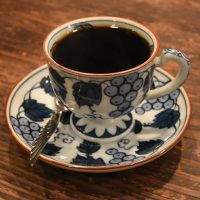 My filter coffee, served in a gorgeous cup at Chatei Hatou, a traditional Japanese kissaten in Toyko.