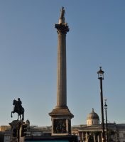 Nelson's Column, in the heart of Trafalgar Square, marking the western-most boundary of West Central London.