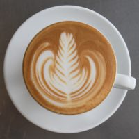 Some gorgeous latte art in my cappuccino in Bread, Espresso & in Tokyo.