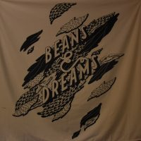 Beans & Dreams decoration, taken from the wall in the Single O roastery in Tokyo.