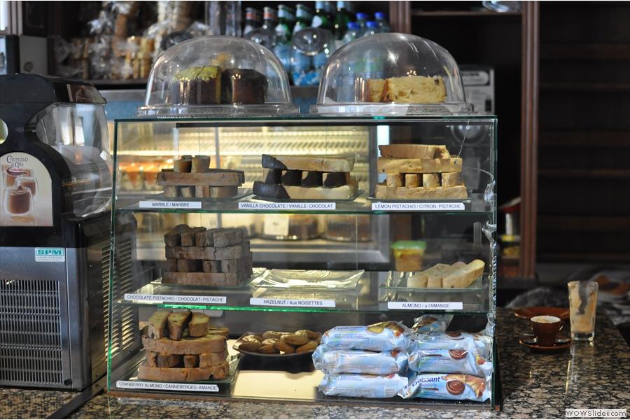 The impressive array of biscotti