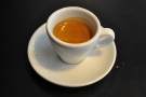 My turn now: my espresso in another classic white cup.