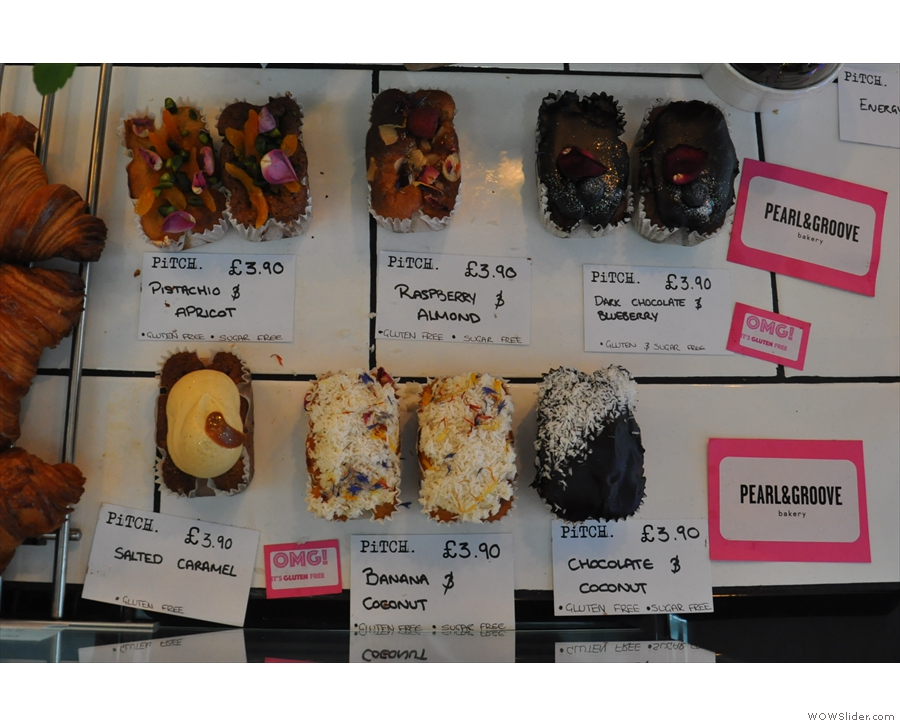 There are loads of gluten-free goodies from the local(ish) Pearl & Groove.