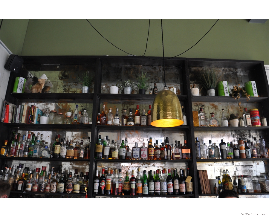 Filter & Fox isn't just about the coffee: there's a (very) well-stocked bar too.