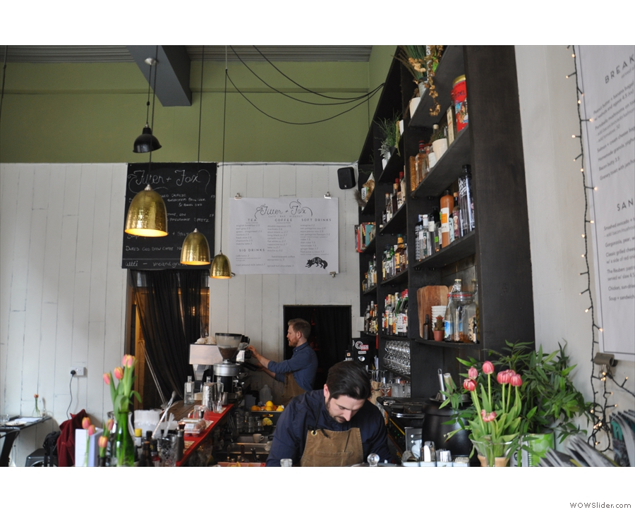 You can spy on the barman & barista hard at work, although if it's coffee action you want...