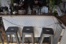 You can also sit at the end of the counter. Ideal for drooling on, err..., checking out the cake!