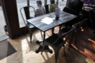 ... although there is this table in the window to the left of the door.