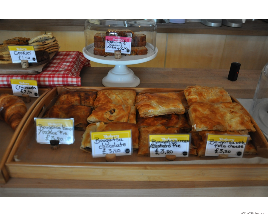 There is this range of sweet and savoury Greek pasties...