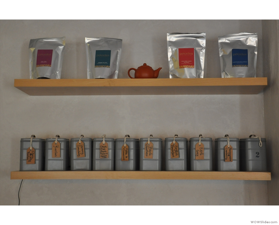 It's not just coffee: C.U.P. does a wide range of loose-leaf tea as well...