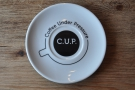 Talking of nice cups, C.U.P. has the best saucers I've ever seen.