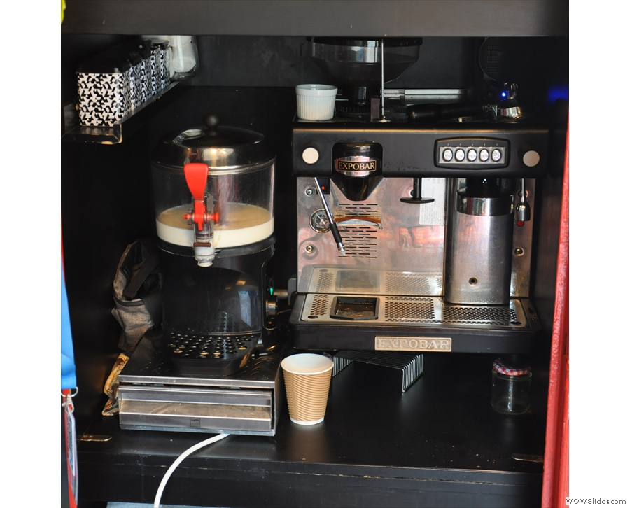 ... which is a coffee shop (and hot chocolate dispensery) inside a phone box...