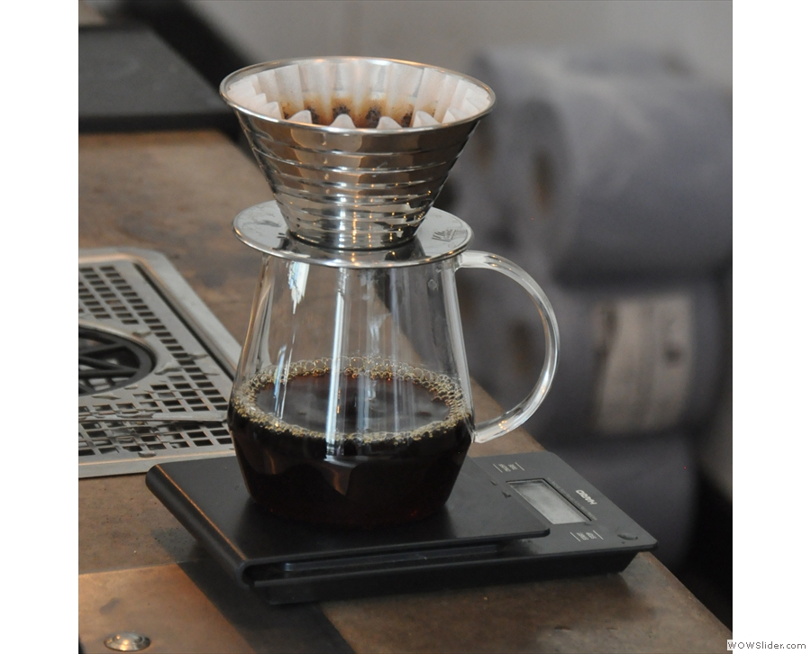 However, after some consultation, he decided to make me a Kalita Wave.