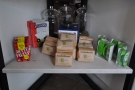 There's also a retail shelf under the cake, selling kit & bags of Roasted Brown beans.