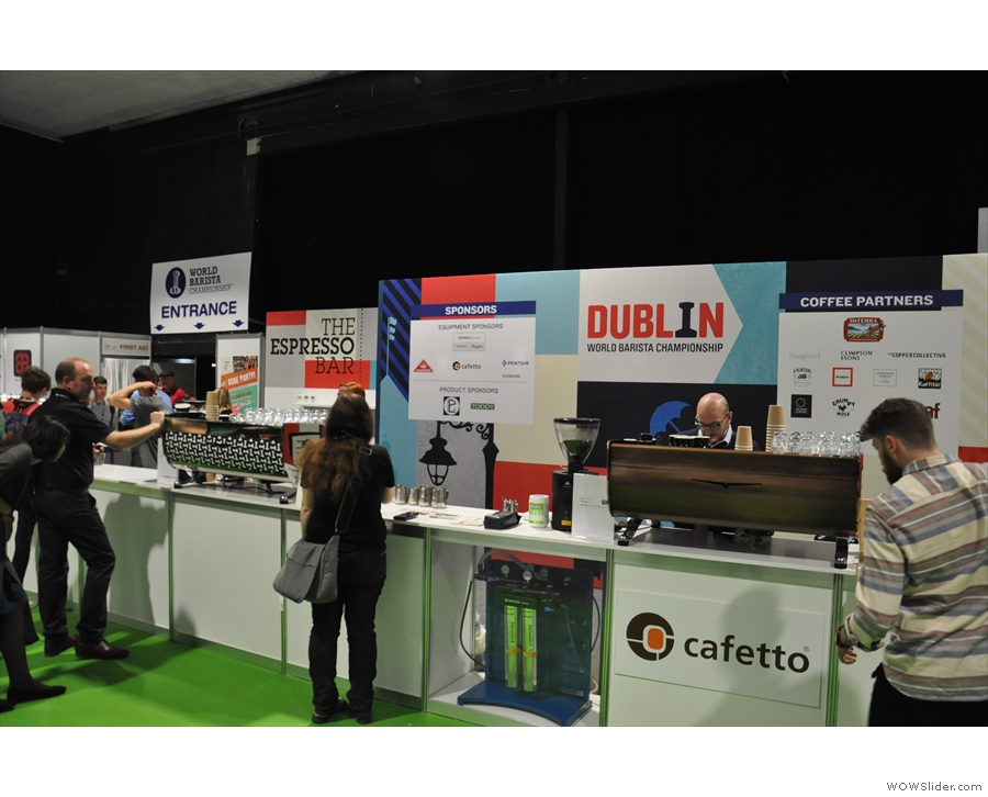 ... and espresso bar where you could try coffees by roasters from around the world.