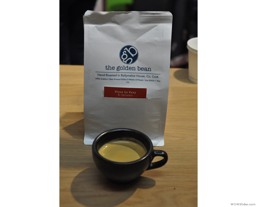 More Irish roasters were there, including The Golden Bean from Cork with this El Salvador...