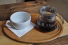 I went for a coffee from Panama, roasted by Round Hill, prepared through the V60.