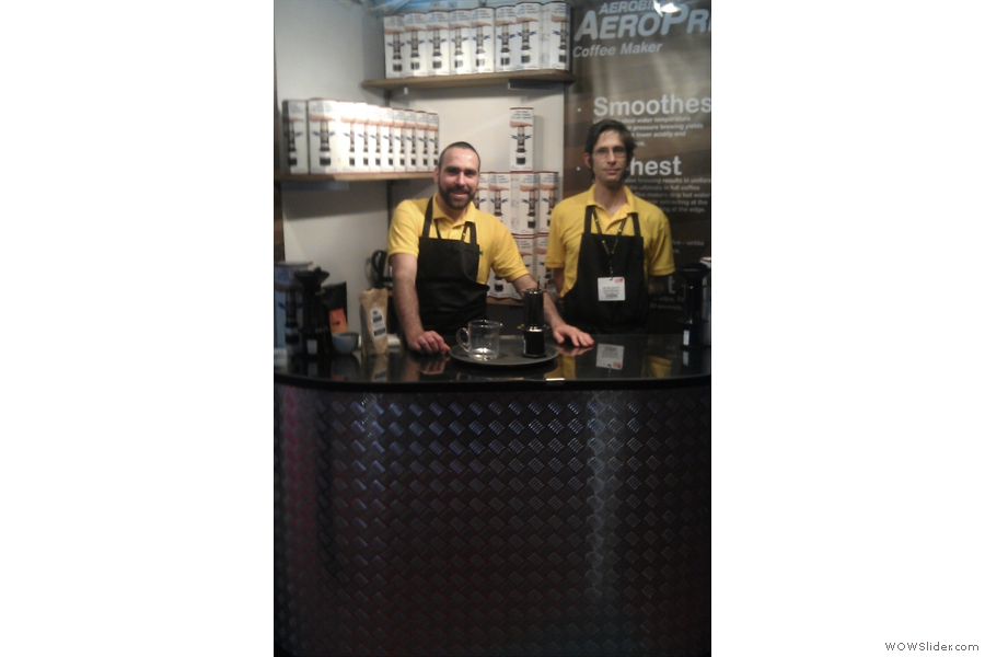 Would you buy an Aeropress from these two characters?