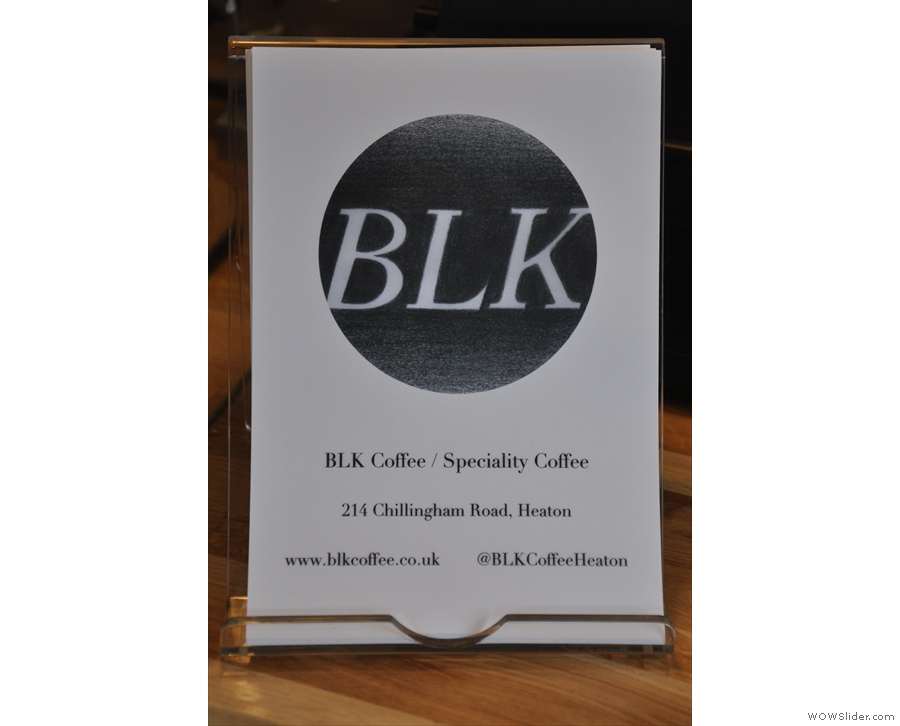 BLK's branding is as minimalist as the decor.