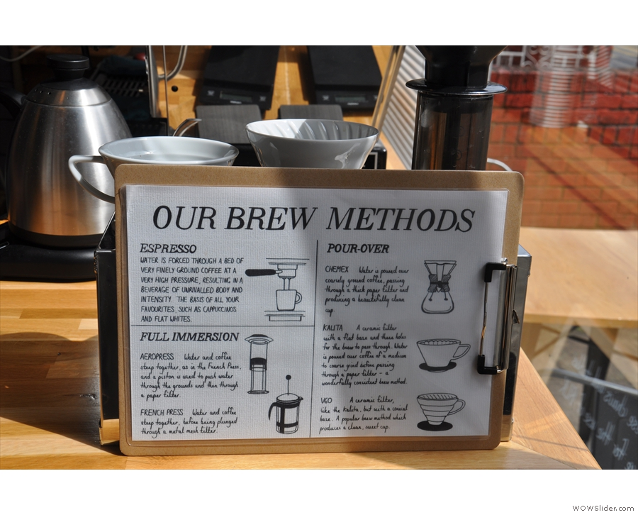 BLK has also added a description of the brew methods.