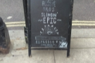 Out on Parsons Green Lane, and, other than the A-board, there's no sign of Espresso by K2.