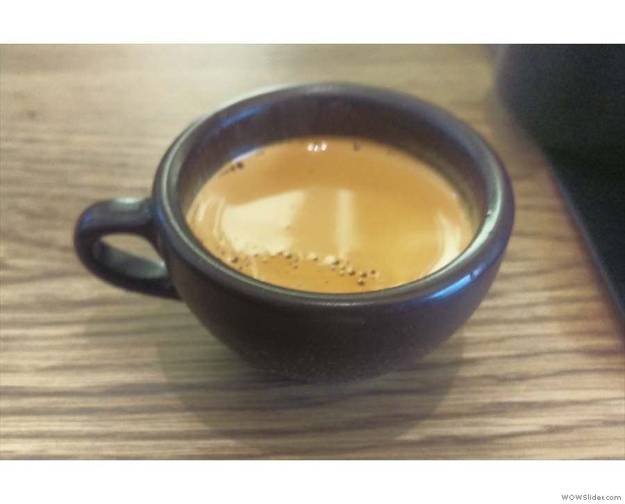 ... which I followed up with a shot of the Pathfiinder espresso in my Kaffeeform cup.
