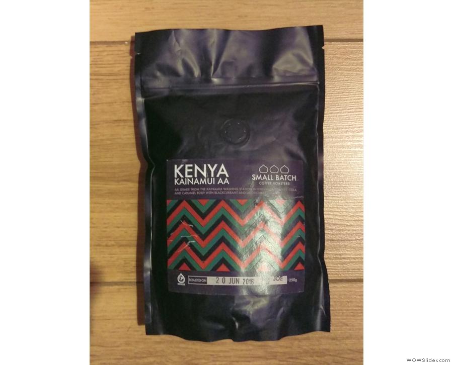 Talking of Kenyan, Small Batch also let me have this bag of its Kenyan Kainamui.