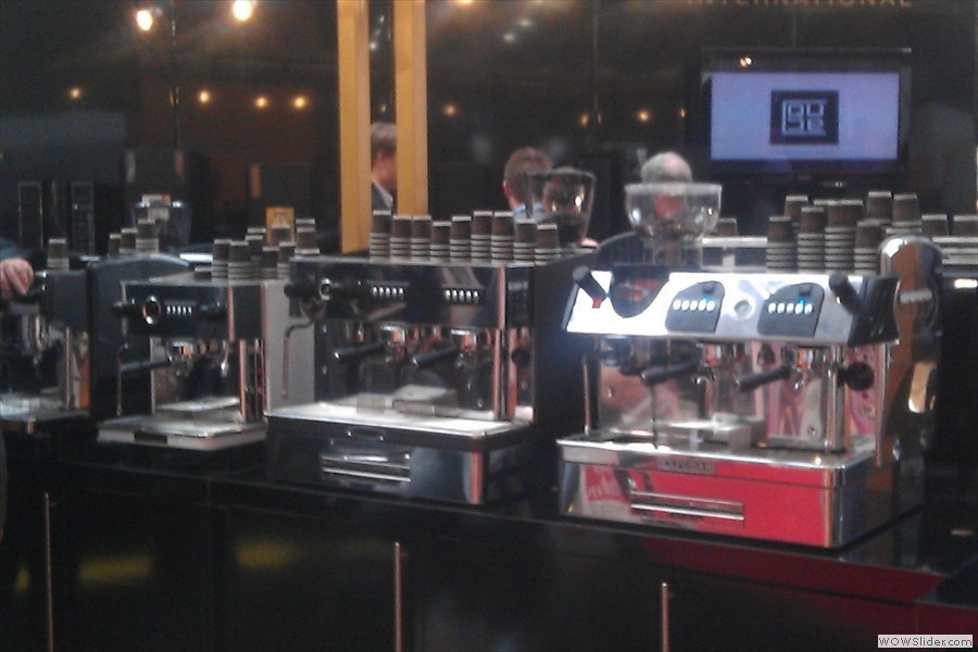 Shiny espresso machines