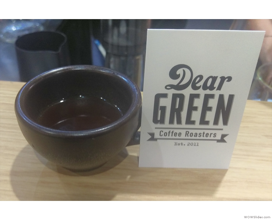 I also caught up with Dear Green on the Beyond the Bean stand for this Kenyan filter.