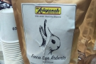 ... where I had this El Salvador espresso with its interesting rabbit/duck packaging.