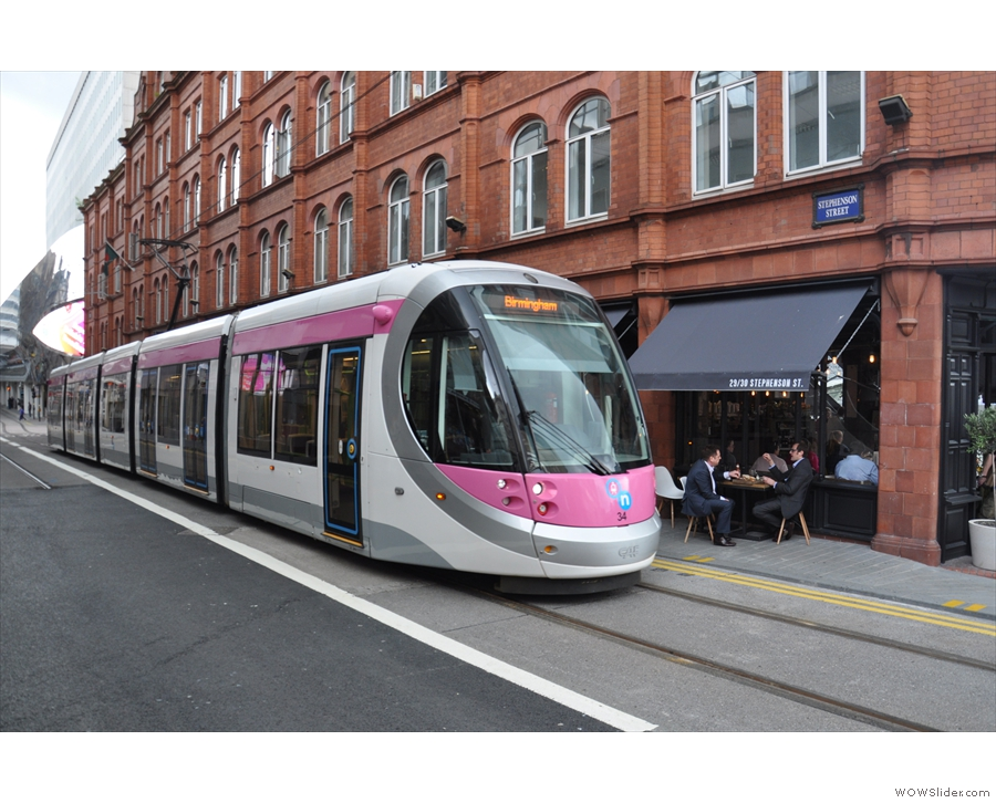 If you're coming by tram, the trams actually terminate (for now) outside Yorks!