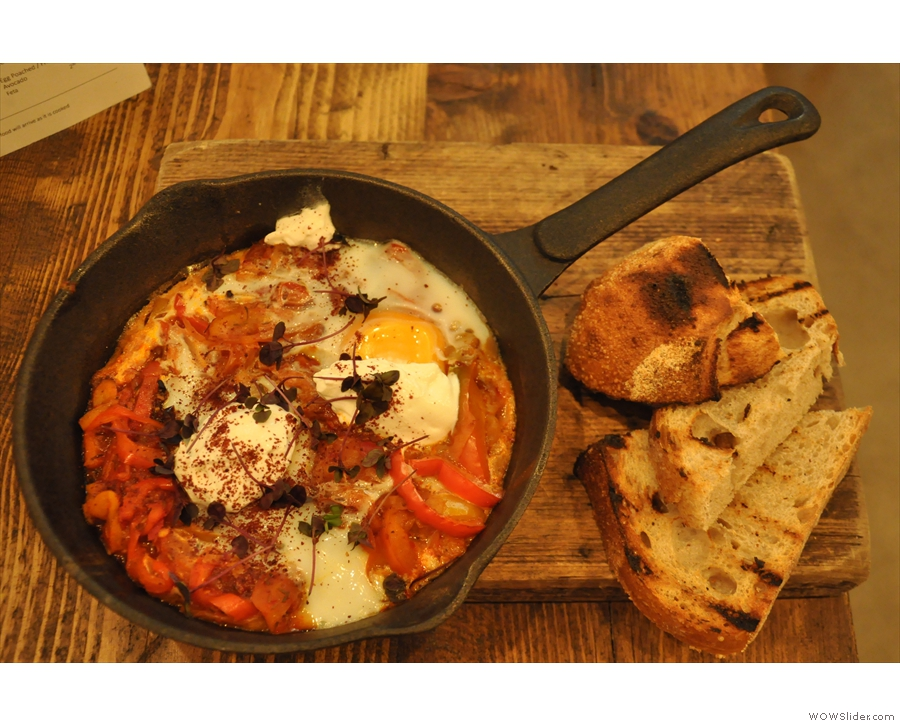 I also had the shakshuka from the brunch menu for lunch.