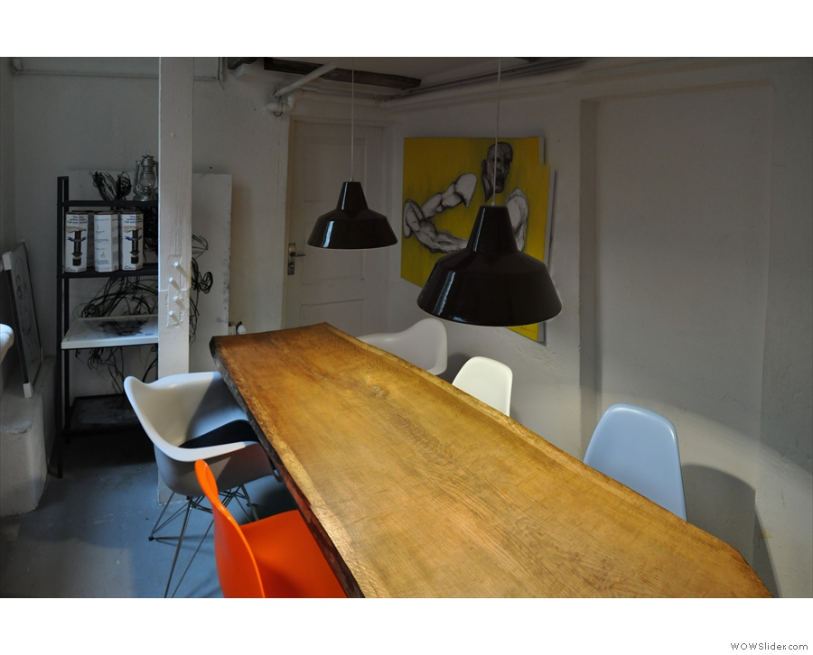 I call it the boardroom on account of its large, communal table.