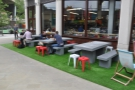 However, Beany Green's famous lawn reveals some changes. These tables, for example...