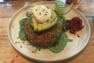 ... then returned the following day for brunch: the brocolli & corn fritters with poached egg.