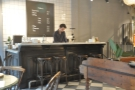 The counter, as seen from the far table.