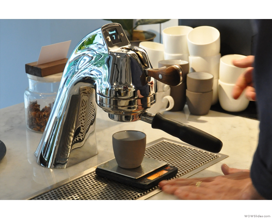 Back on the Modbar, it was time to make my coffee.