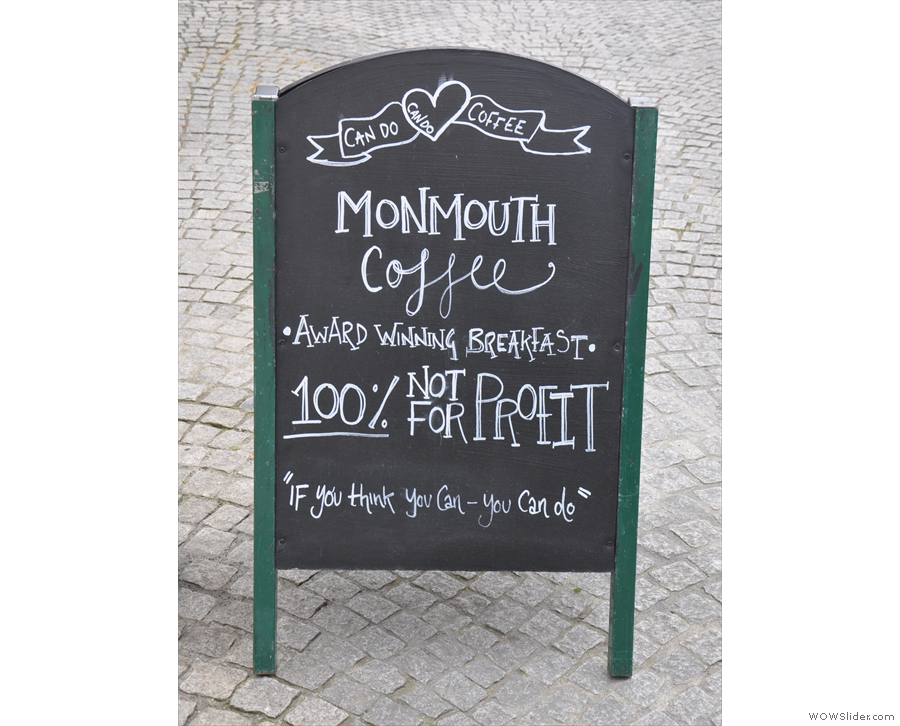 There are also plenty of A-boards out on the cobbled tow-path that let you know you've...
