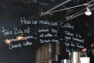 The recipe is writen on the wall above the espresso machine. I think that's for our benefit!