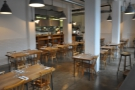 ... with its neat rows of tables & kitchen at the back. The staff were prepping for dinner.