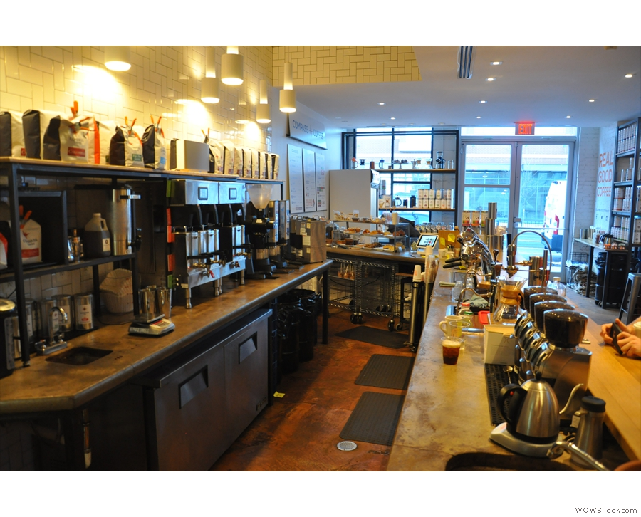 A view of the counter from the other end.