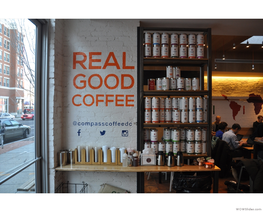 Of course, since this is a roastery, there's coffee for sale all over the place!