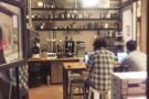 ... providing a neat view into the training room/lab at the back.