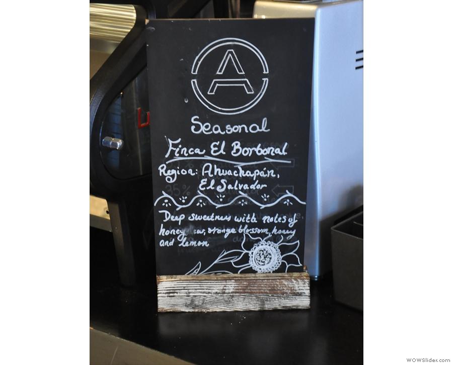 ... and the single-origin guest espresso, both roasted by Origin.